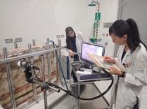 Ms.Narita with Ms.Hanan Conducting analysis with Digital Microscope