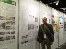 A picture of Mr Sayed along with his research