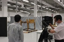 Japanese Documentation team taking High resolution Photo to Tutankhamen ritual bed