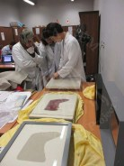 Ms.Ishii explaining the preparation of the mount