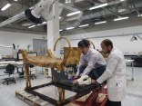 Conservators scanning Tutankhamun's Bed