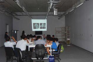 Ms. Nishisaka presenting to the students