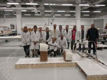 Wood lab. Members and Dr. Oyama and after unpacking chariot