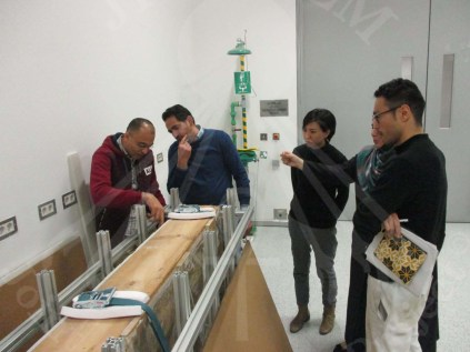 The Planning of the Wall Painting support under the supervision of Dr Hussein