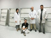 A group photo of the Egyptian-Japanese conservators