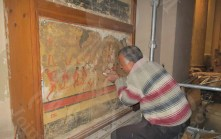 inspection of the mural paintings