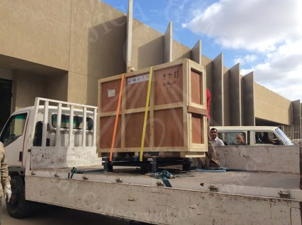 The Wall Paintings finally reach the Front Gate of the Grand Egyptian Museum