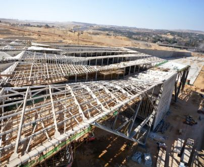 Bird's-eye View of the Grand Egyptian Museum under construction
