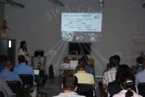 أستاذة نشيساكا أكيكو تعرض أعمال مشروع الترميم المشترك بالمتحف المصري الكبير أمام الحضور