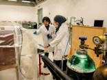 Experts checking fumigation progress