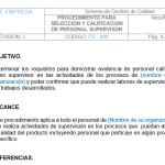 Procedimiento para selección y evaluacion de personal supervisor, para descarga y editable 100%