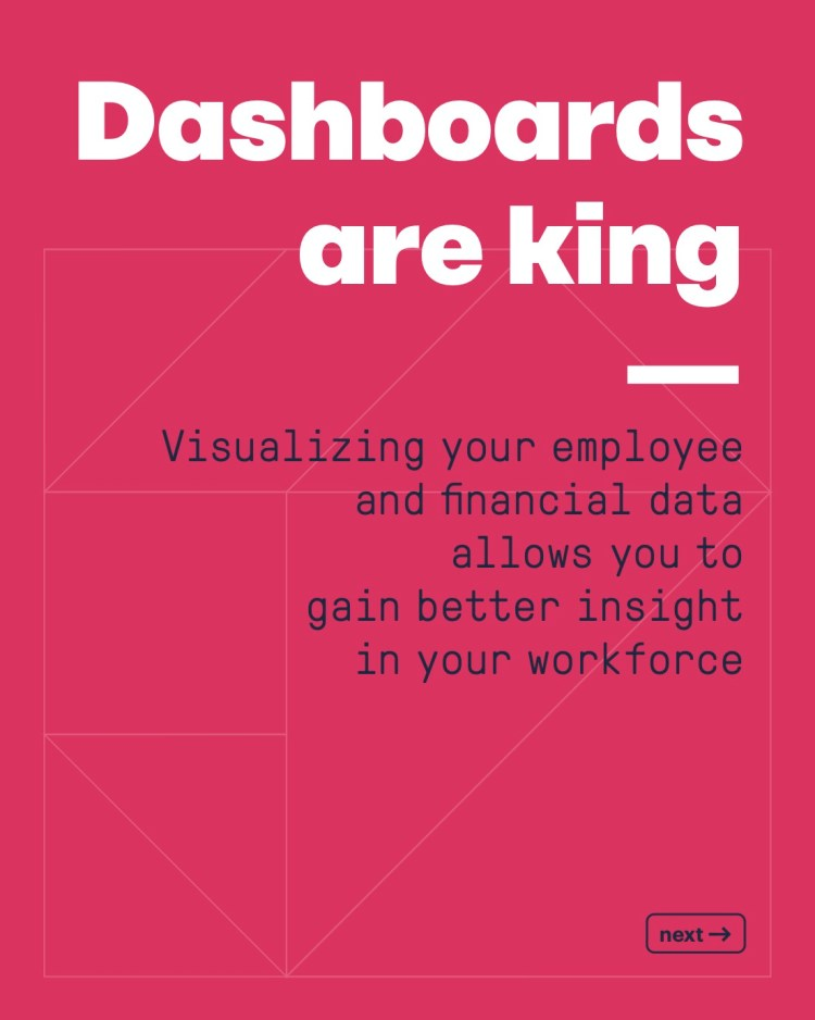 Dashboards are king