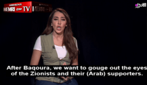 """Jordan TV host: """"We want to gouge out the eyes of the Zionists""""... <a target="""