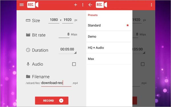 Using Rec. Screen Recorder to record WhatsApp Video Call.