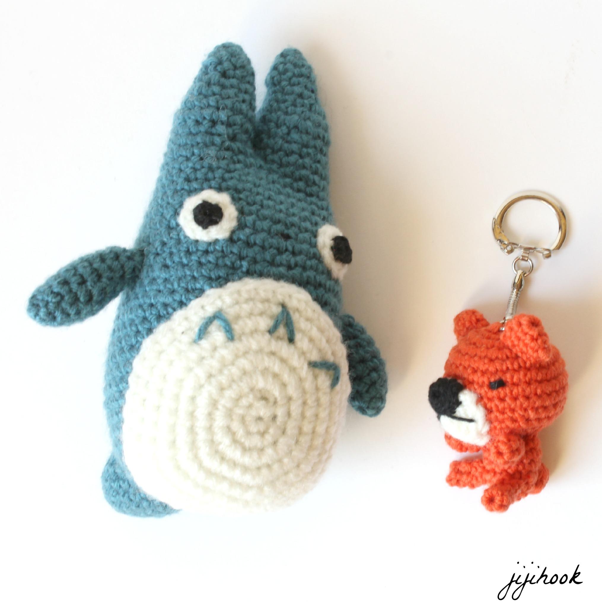 porte cle ourson en crochet jiji hook