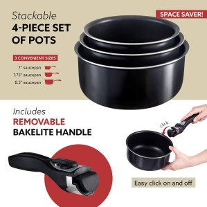 Picture of Chef's saucepans with bakelite removable handles
