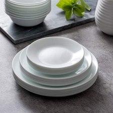 8 Piece Corelle White frost Dinner Plates
