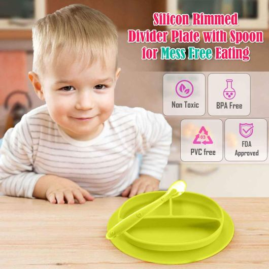Purple Silicone Baby Snack Mat Non Slip Happy Face Toddler Placemat Suction Sticky Table Plate Tray