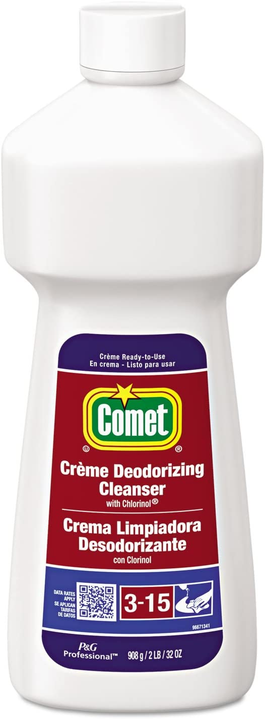 comet deodorizing cleanser on stainless steel
