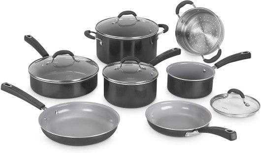 Cuisinart Ceramic Cookware set vs aluminum pan