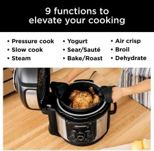 Various functions of the Ninja Foodi Cooker, 8 Quartz