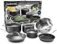 ceramic vs aluminum pan; non stick anodized aluminum cookware set