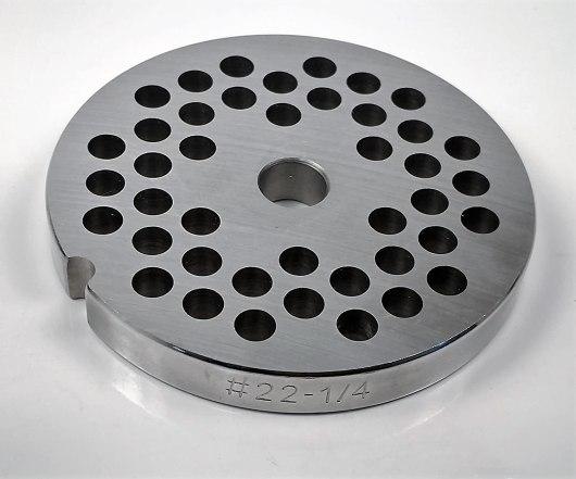 size #22 meat grinder plate
