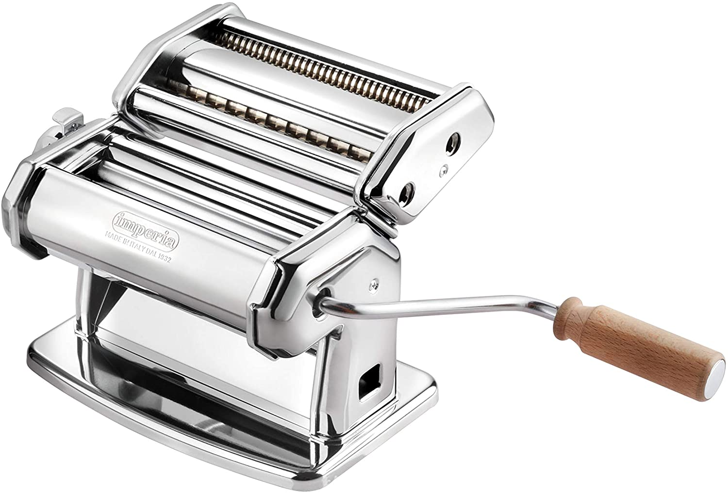 Imperia Pasta Maker Machine with wooden handle
