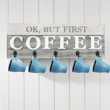 Coffee Hanging Mug Barnyard Design Organizer Rack