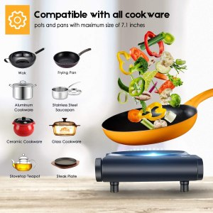 Single Burner Electric stove for dorm room, office and rv