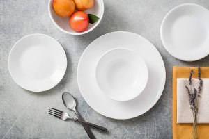 Cadmium and Lead free Corelle dinnerware set, winter frost 18 Pieces