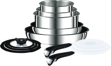 Stainless Steel Tefal Ingenio Pan set for induction, gas, electric, ceramic and halogen stove tops