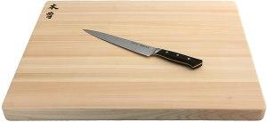 Kiso Hinoki cutting board for Japanese Knives
