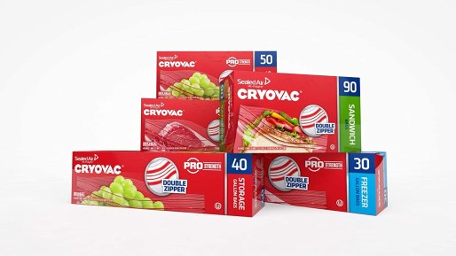Cryovac oven safe vacuum seal and freezer bags