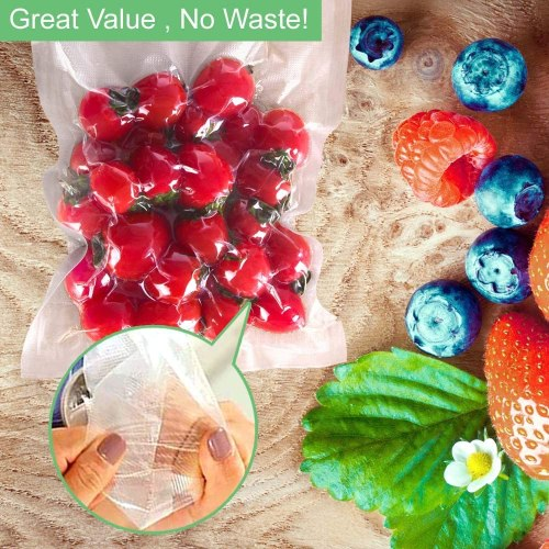 Embossed foodsaver vacuum seal cooking bags