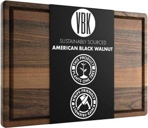 Black large walnut cutting boards