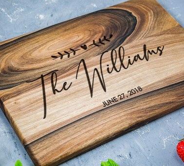 personalized walnut cutting board