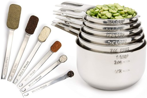 Gourmet Measuring Cups and Measuring Spoons Set Liquid Measuring Cup or Dry measuring cup for ingredients