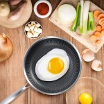 Best non-stick frying pan consumer reports by EKN stainless steel brand