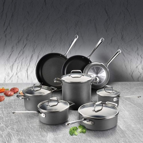Cook code Hard Anodized nonstick induction cookware set