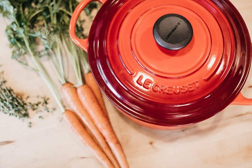 Le Crusette enameled cast iron cookware for induction stove