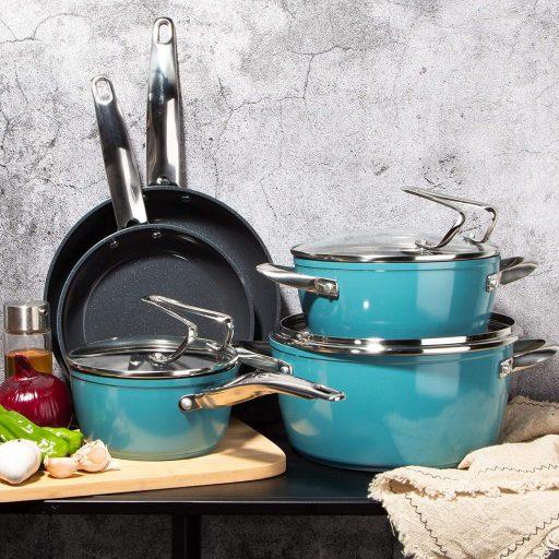 Redmond lightweight pots and pans for weak wrists and seniors