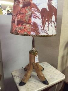 antiques hoof lamp