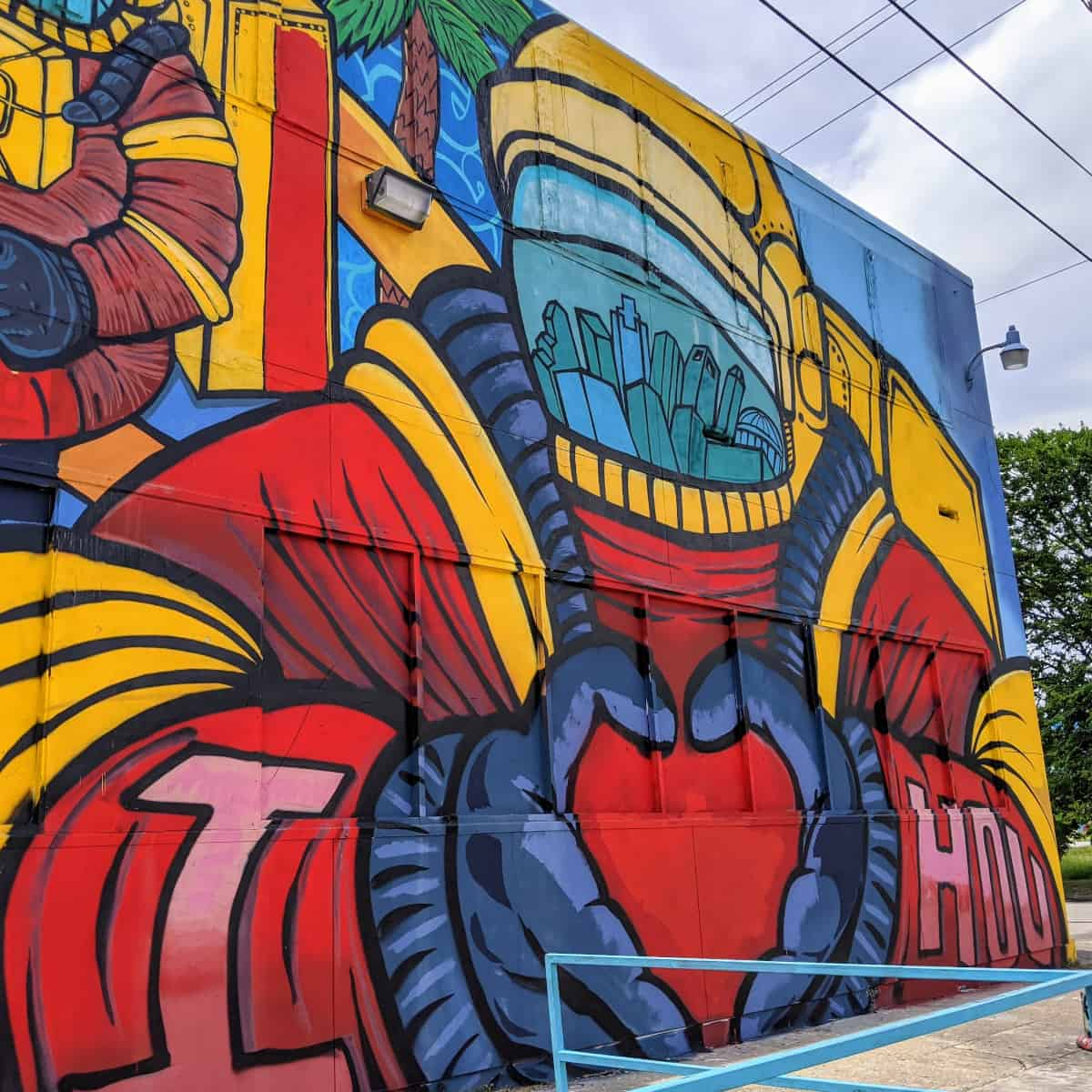 houston graffiti building street art