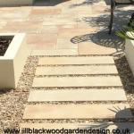 contemporary courtyard garden design