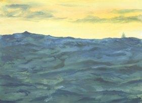 Big Wave, Yellow Sky, Blue Water