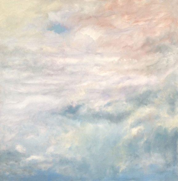 "Cloud Plasticity, 36"" x36"", Oil on canvas"