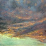 """Like using the brush up, oil on copper, 7"""" x 7"""""""
