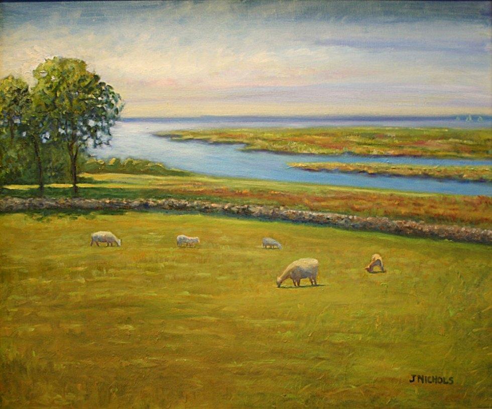 Jill Nichols Fine Art Pasture by the Sea