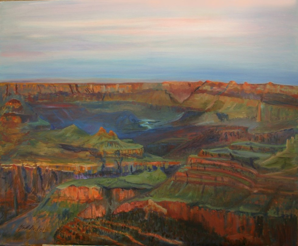 Grand Canyon painting by Jill Nichols in the permanent collection of former FBI Director James Comey.